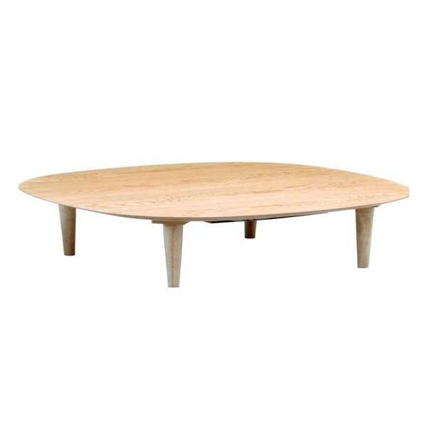 こたつ オールシーズン国産コタツ モダンタイプこたつテーブル 120巾角丸長方形 オーガ120(タモ)