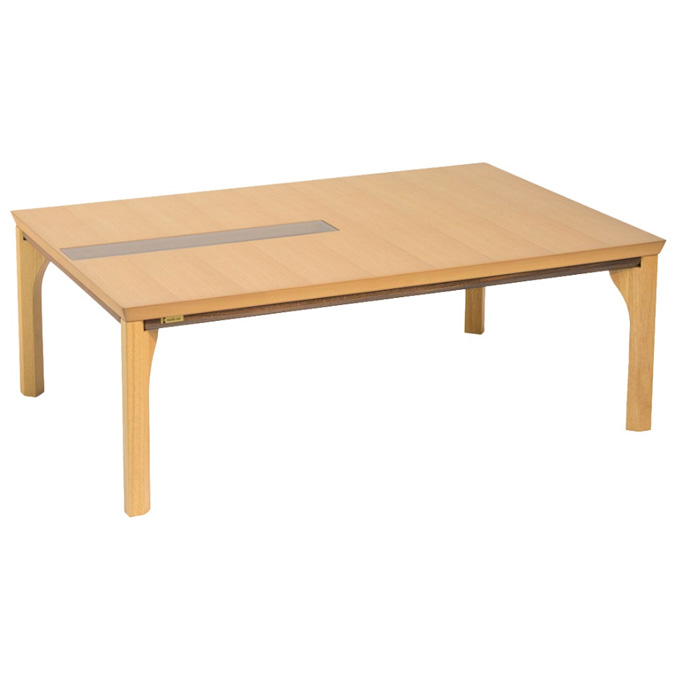 こたつ コタツテーブル オールシーズンコタツ 長方形135巾 家具調コタツ オスカー