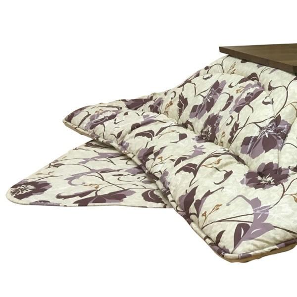 こたつ布団 長方形コタツ用厚掛けふとん(掛け単品) リビエラ ベージュ色 長方形105~120巾こたつ用