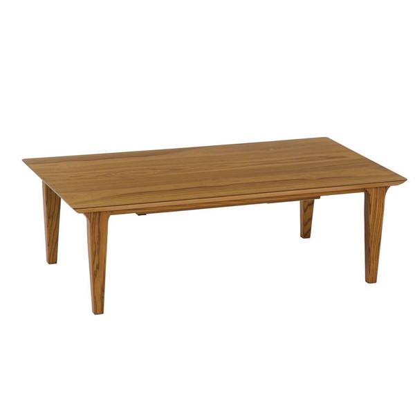 こたつ 120幅長方形 コタツテーブル ヴィンテージテイスト ロッコ120 天然杢チーク 国産品