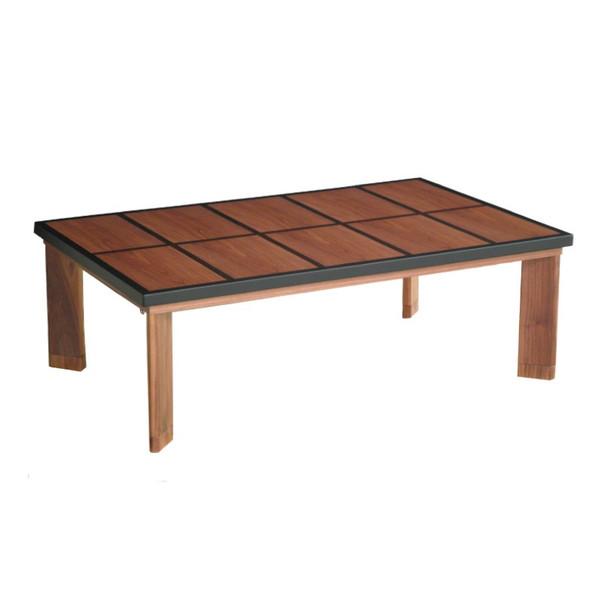 ローテーブル こたつ 国産コタツ120 ウォールナット材 黒檀象嵌入り