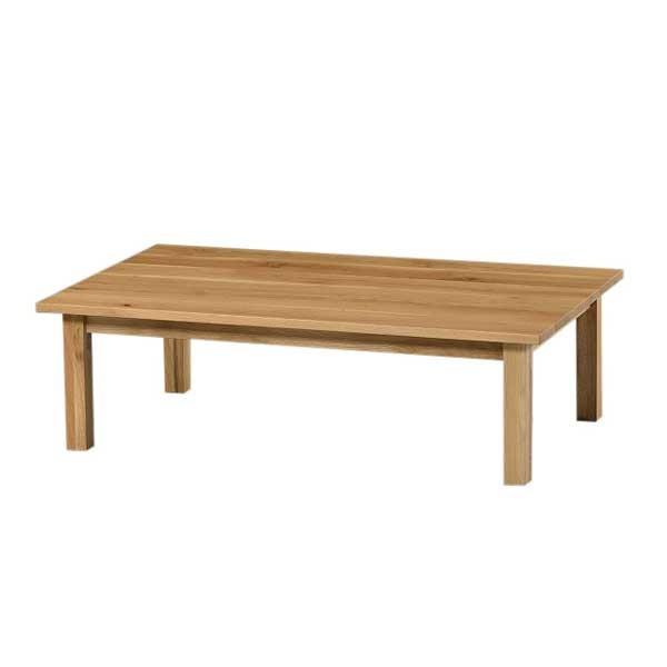 こたつ 国産コタツテーブル スペリオール120 長方形120幅 北海道材なら無垢 ナチュラル色