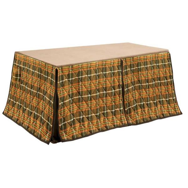 ハイタイプ高脚/ダイニングこたつ布団 長方形135×85巾コタツ用 タータン柄135 高脚用薄掛け布団