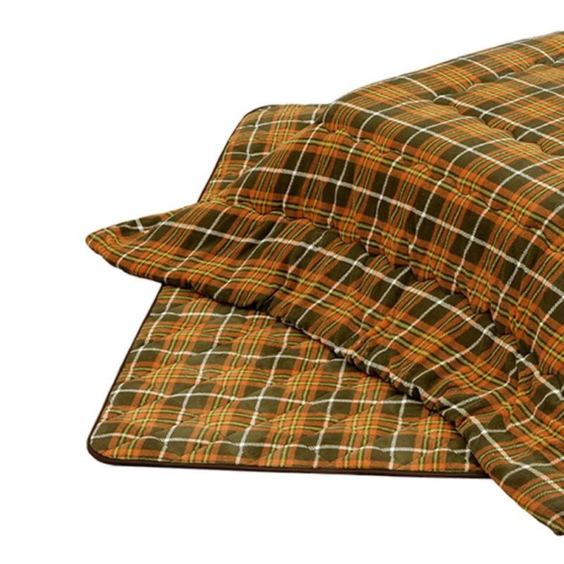 こたつ布団 長方形用こたつ布団(掛敷セット) 長方形120巾コタツ用 厚掛 タータン柄120