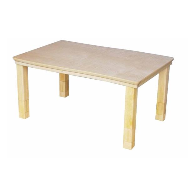 ハイローテーブル/こたつ 国産コタツ105 メープル材