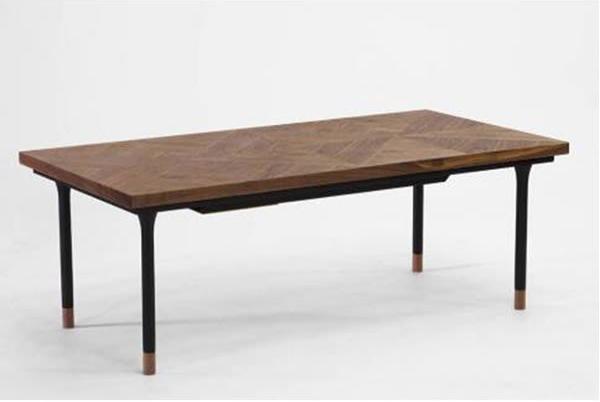 こたつテーブル 寄せ張り仕上げ 120幅長方形 トレカント2(TREKANTII)120 天然杢ウォールナット突板 コタツ 国産品