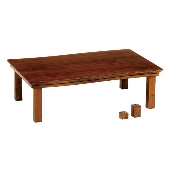 こたつ コタツテーブル 長方形120巾 ウォールナット家具調コタツ ウェーブ120