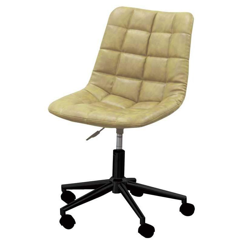 椅子 デスクチェア ワークチェア CL-330 ライトブラウン色 組立式 360度回転 キャスター付 オフィスチェア