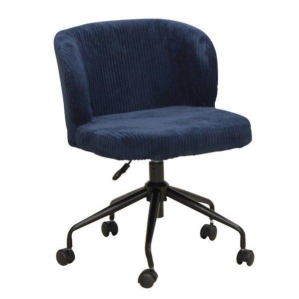 オフィス、ワークチェア 肘無布張り回転デスクチェア CL-355BL ブルー色