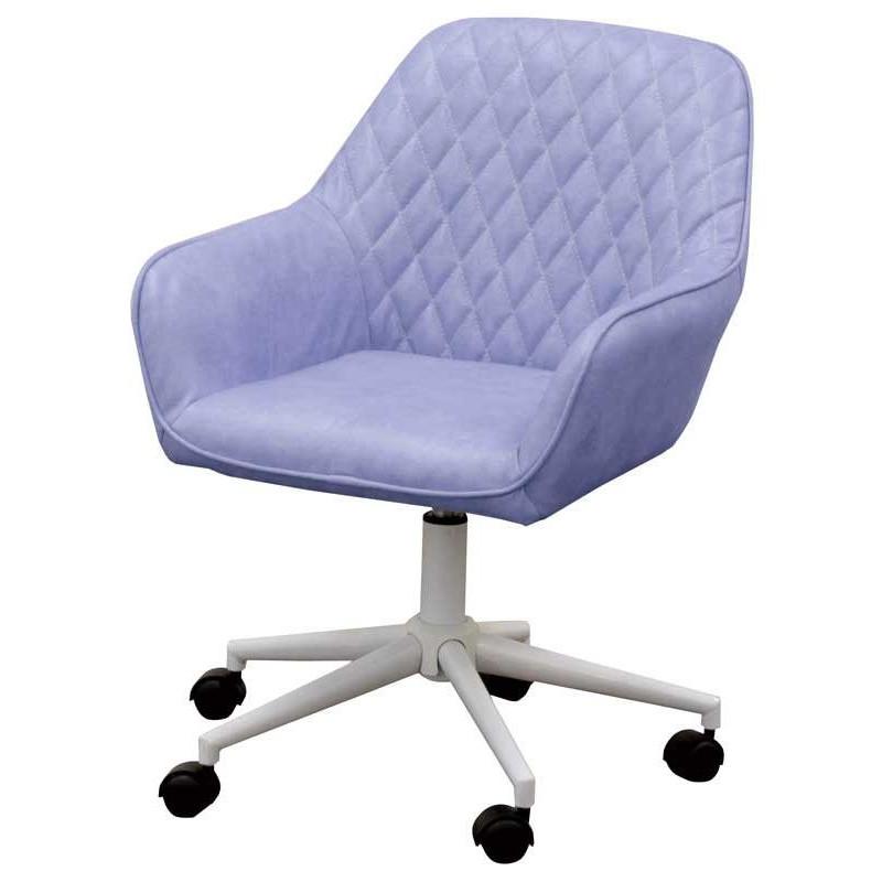 椅子 デスクチェア ワークチェア CL-360 ブルー色 組立式 360度回転 キャスター付 タブチェア