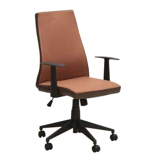 オフィス、ワークチェア 肘掛付き 布張り回転デスクチェア CX-010RE レッド色