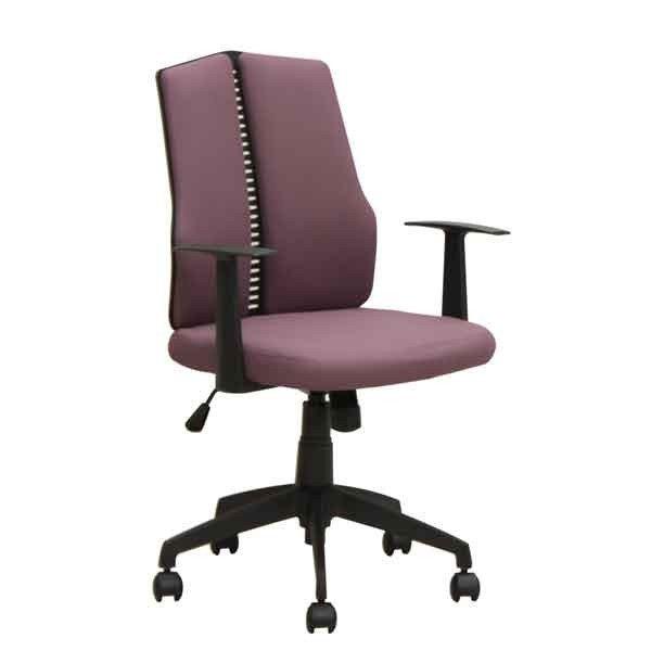 オフィス、ワークチェア 肘掛付布張り回転デスクチェア CX-126B-RE レッド色