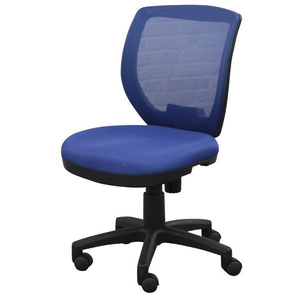 オフィス、ワークチェア ハンギングフック付き メッシュ張り回転デスクチェア FP-100BL ブルー色