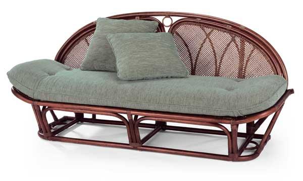 籐椅子 ラタンソファー&カウチ A120D スコルピス柄(グレーグリーン色) アジアンテイスト