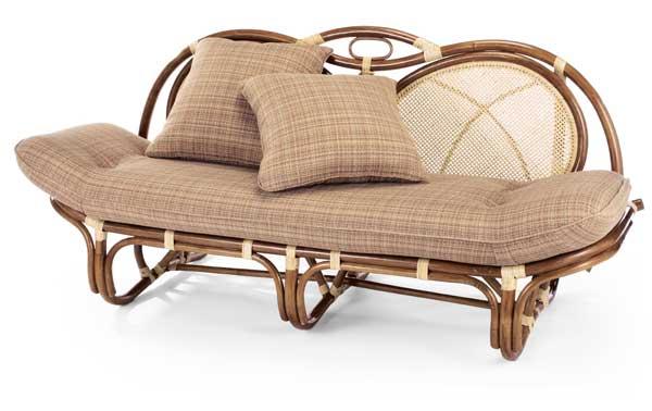 籐椅子 ラタンソファー&カウチ A160A ブルース柄(ライトブラウン色)