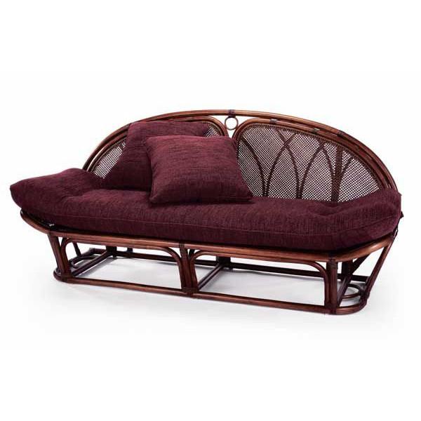 籐椅子 ラタンソファー&カウチ A120D クッション生地2色対応 アジアンテイスト