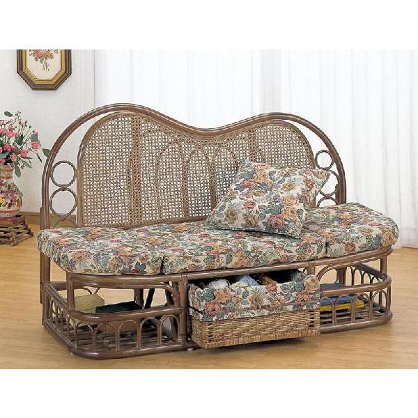 籐椅子 ラタンソファー&カウチ カウチソファー Y-611B アジアンテイスト