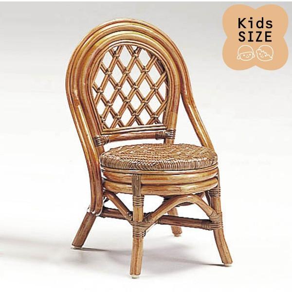 籐子供椅子 ラタンドールチェア ミニバリチェア アンティークブラウン色フレーム アジアンテイスト