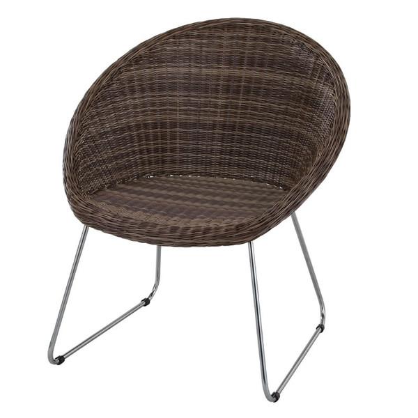 ガーデン椅子 屋外チェア 肘掛椅子 ダークブラウン色 アジアンテイスト アームチェア