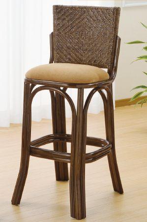 籐椅子 ラタンカウンターチェアー ハイルタイプ