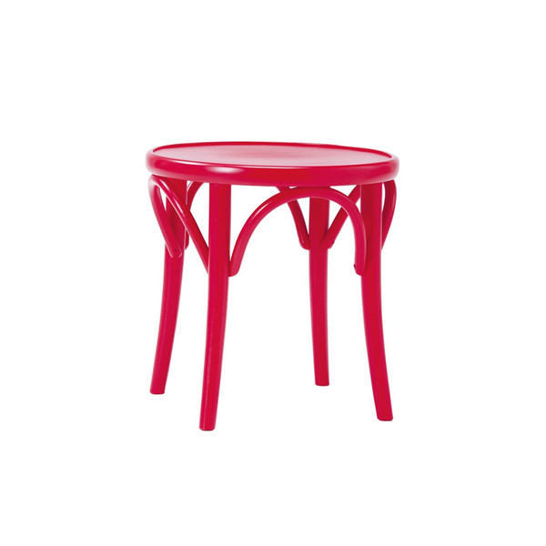 スツール 曲げ木椅子 伝統的な「曲げ木」技法で有名なTON社 チェコ製 BCZ-8054-R レッド色 完成品