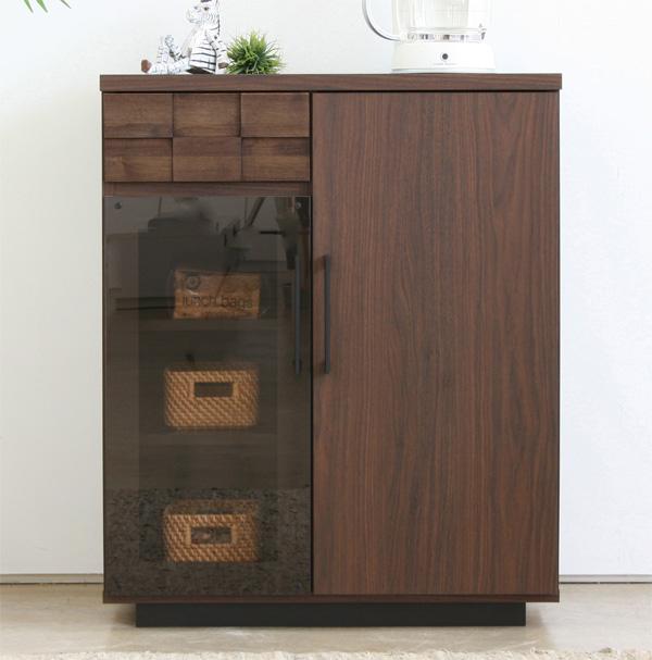 ハイタイプ木製テレビ台70センチ幅 モダン北欧デザイン 完成品 コルクカウンター
