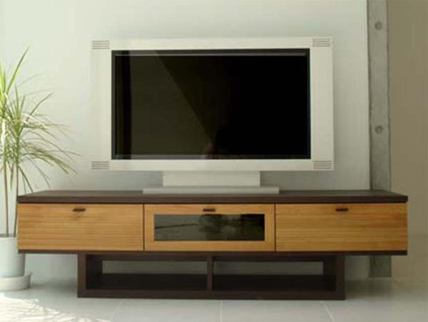 木製テレビ台160センチ幅 モダン北欧デザイン 完成品 FE160PZTV