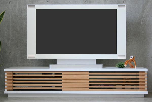 木製テレビ台150センチ幅 ホワイト色モダン北欧デザイン 完成品 INAHO150TV いなほ
