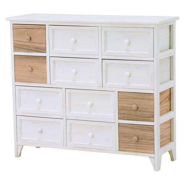 ホワイト色(白色)チェスト 85幅テレビ台  エレガントなデザイン 完成品