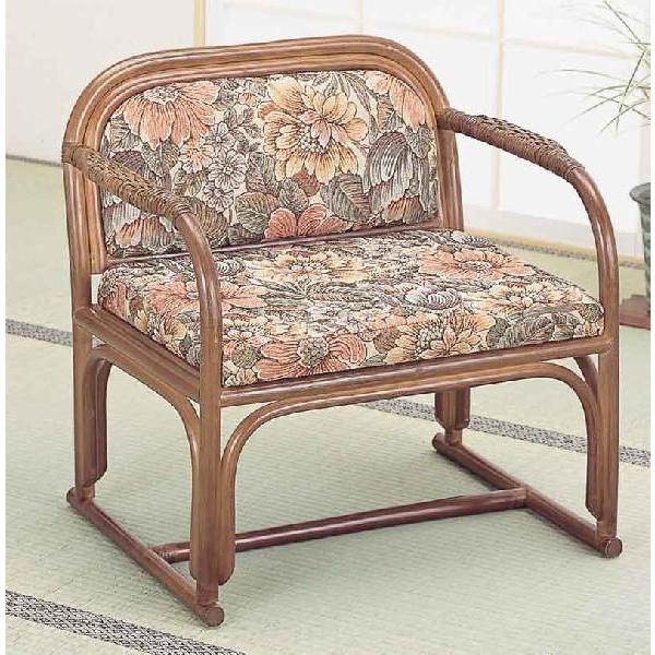 籐椅子 ラタンアームチェアーハイタイプ/座椅子 S112B ザイス 座いす