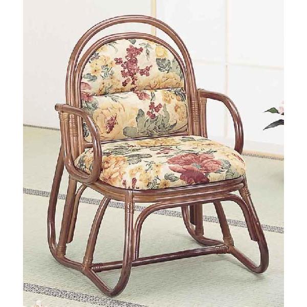 和風座いす 籐椅子 ラタンアームチェアーハイタイプ/座椅子 S51B ザイス 座いす