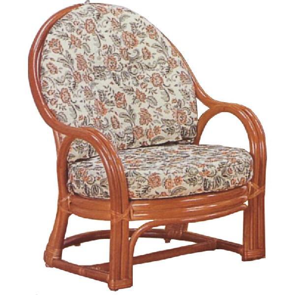 和風座いす 籐椅子 ラタンアームチェアーロータイプ/座椅子 S571 ザイス 座いす