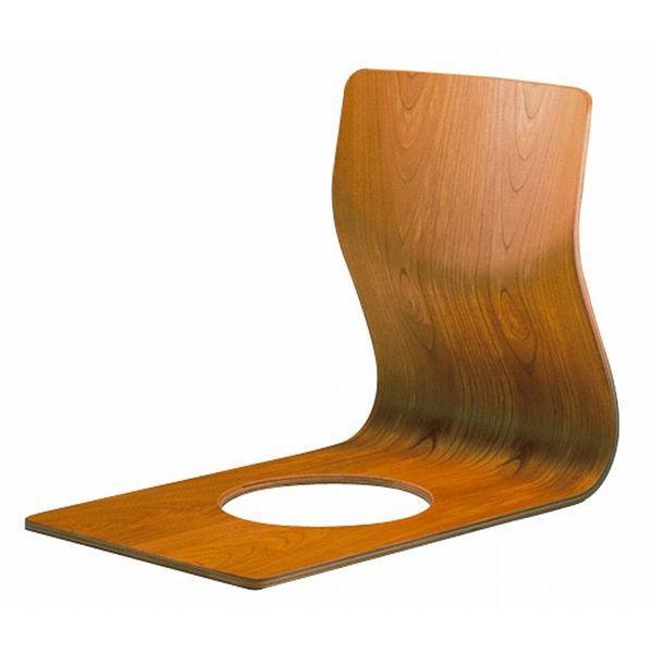 和風座いす シンプル曲げ木座椅子 ケヤキブラウン色 天童木工 ザイス 座いす