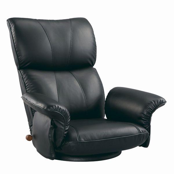 スーパーソフトレザー張り 肘付きリクライニング回転座椅子 匠(たくみ) YS-1396HR ブラック色(黒色) ザイス 座いす