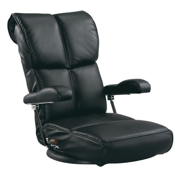 座椅子/座いす 完成品 スーパーソフトレザー座椅子 響(ひびき) ブラック色 YS-C1367HR ザイス 座いす