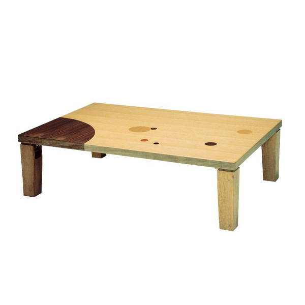ローテーブル 座卓 座敷机 デザイン座卓 120巾長方形 アース120 折れ脚