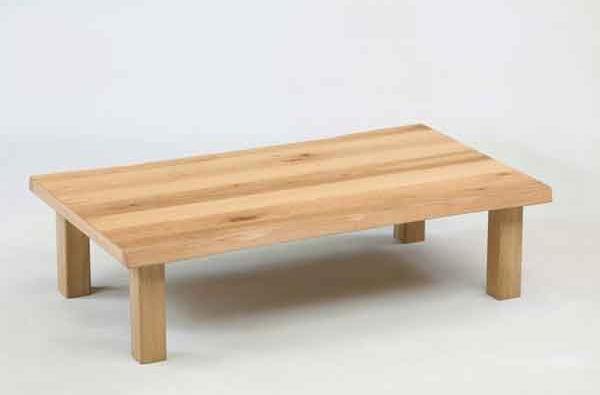 座卓 ローテーブル 120巾長方形 ナチュラルタイプ 座卓テーブル オーク節有り突板 あずみ120