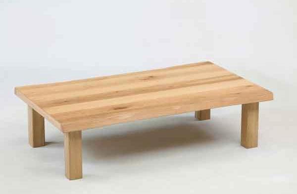 座卓 ローテーブル 135巾長方形 ナチュラルタイプ 座卓テーブル オーク節有り突板 あずみ135