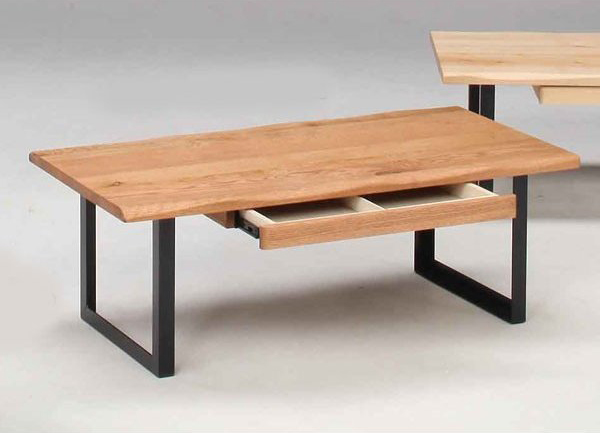 センターテーブル ローテーブル 120巾長方形 ナチュラルタイプ オーク節有り無垢材