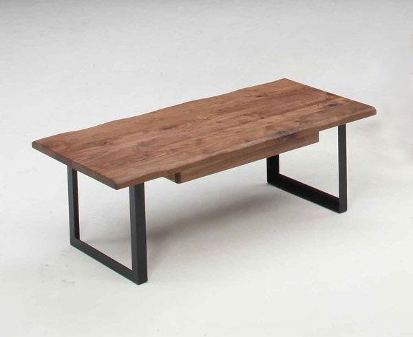 センターテーブル ローテーブル 120巾長方形 ナチュラルタイプ ウォールナット節有り無垢材
