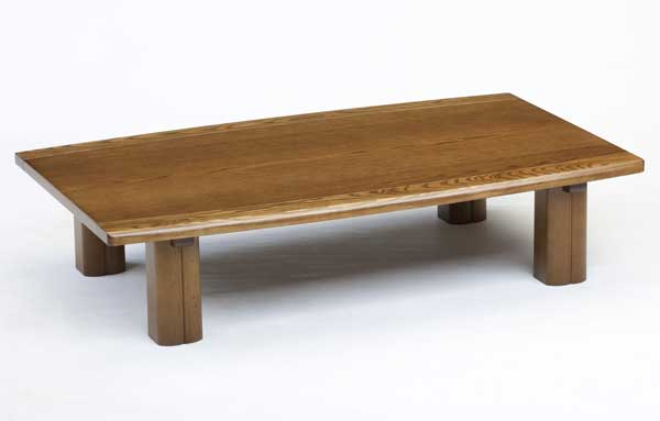 New Japanese low table table natural gray oak ITA 180 width