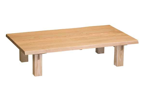ムク板座卓テーブル 天然木タモ集成無垢材 180巾 エブリー ナチュラル色