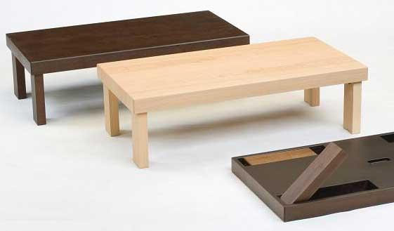 折れ脚座卓テーブル ちゃぶ台 天然杢 120×60センチ 3色対応