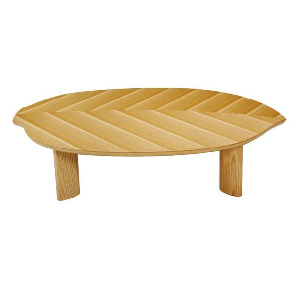 ローテーブル ちゃぶ台 座卓 座敷机 モダンタイプ座卓 135巾変型 一葉135