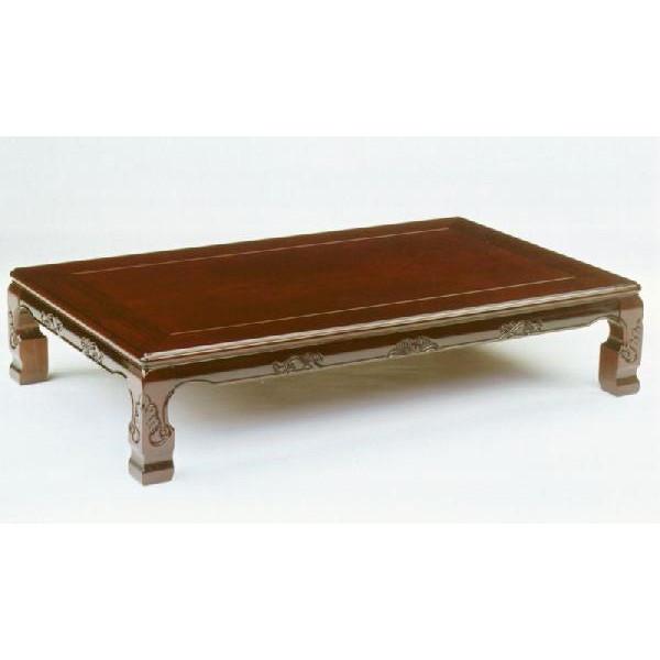 座卓/テーブル/和風座敷机 有明 天然杢ブビンガシタン 150巾