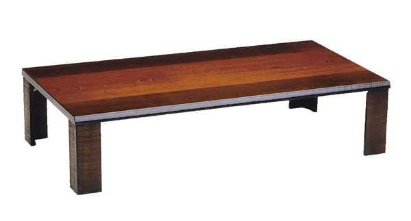 国産超軽量折れ脚座卓テーブル 120巾長方形 匠(たくみ) ダークブラウン色(濃い茶色)