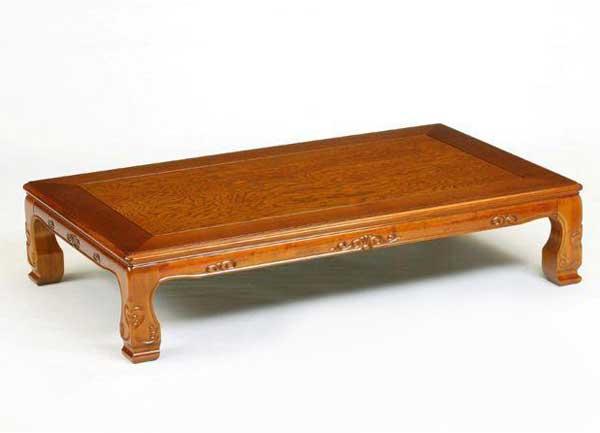 純和風天然杢栓(せん)座卓テーブル ちゃぶ台 座敷机 木曽 120×90センチ