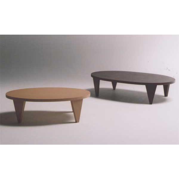 楕円形折れ脚座卓 ローテーブル ちゃぶ台 オーバル 天然杢オーク 150巾 2色対応