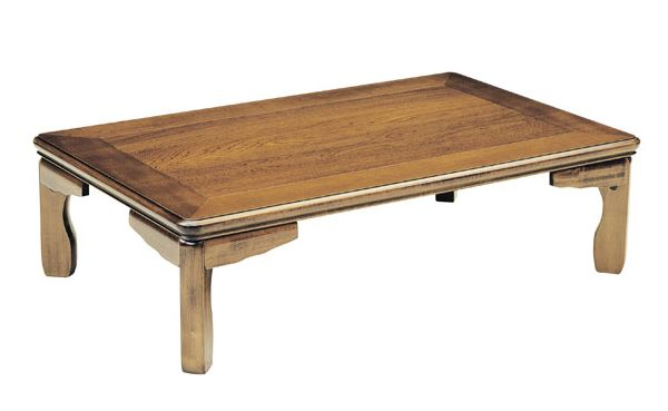 和風折れ脚座卓テーブル ちゃぶ台 折りたたみ 120巾長方形 RAN(らん) 天然杢栓(セン)
