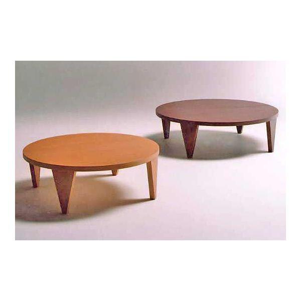 折れ脚丸型座卓テーブル ちゃぶ台 折りたたみ ROUND 天然杢オーク 105丸 2色対応